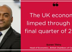 BCC Quarterly Economic Survey Q4 2019: UK economy stagnating as service sector slows